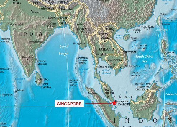 Сингапур столица какого государства на карте мира