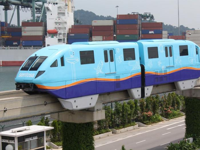 Смешной монорельсовый поезд